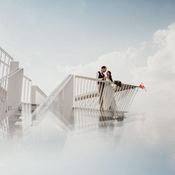 Svadobné fotenie na Vyhliadkovej veži Devínska Kobyla