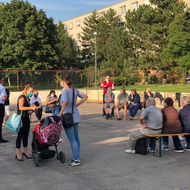 stretnutie pri ZUŠ na Istrijskej ulici 21. 9. 2020