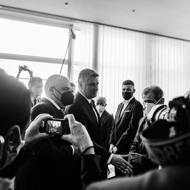 Chorvátsky prezident  na návšteve v DNV