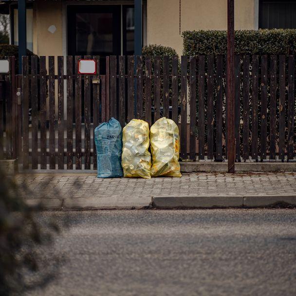 monitoring  vrecového zberu triedeného odpadu 28. 1. 2021