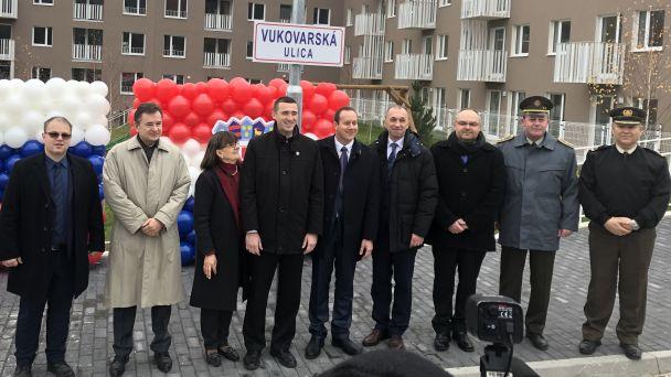 Slávnostné pomenovanie Vukovarskej ulice vDevínskej Novej Vsi