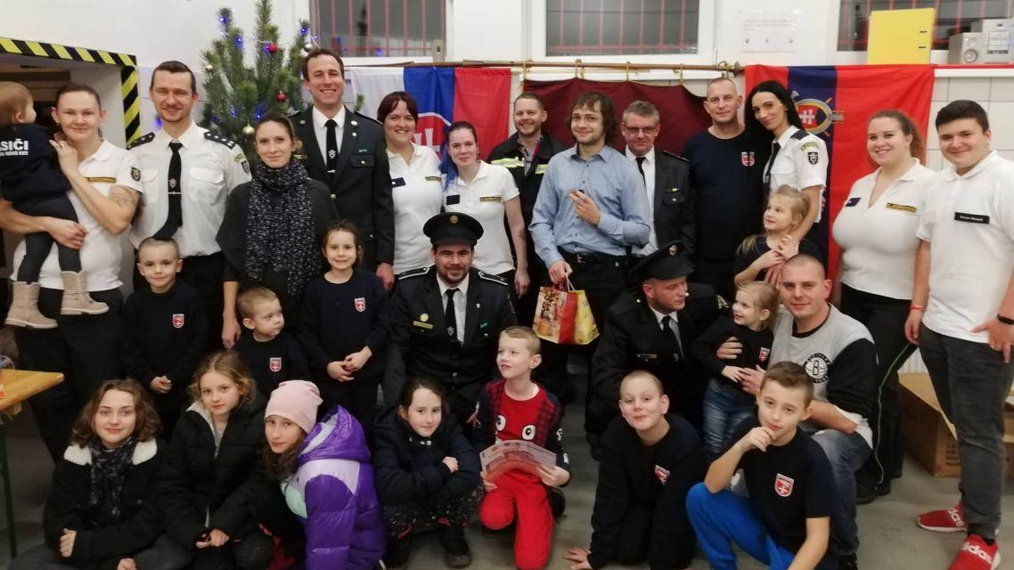 Poďakovanie za podporu hasičskej mládeže