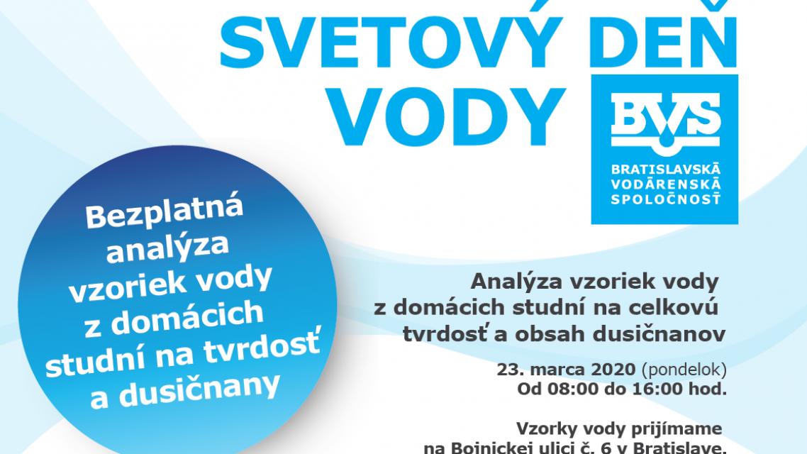 Využite možnosť dať si 23.3. prostredníctvom BVS preveriť kvalitu vody zdomácich studní.